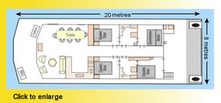 Mystique Houseboat Floorplan